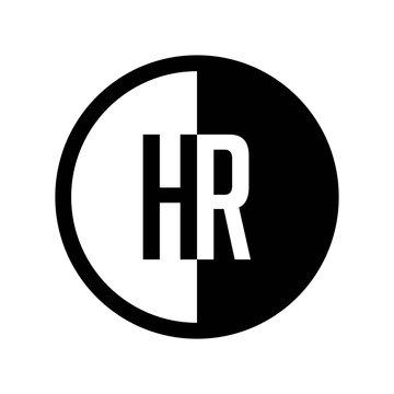 INITIAL CIRCLE HALF LOGO HR
