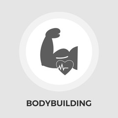 Bodybuilding Vector Flat Icon