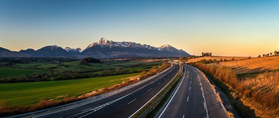 High Tatras and mount Krivan, Slovakia Wall mural
