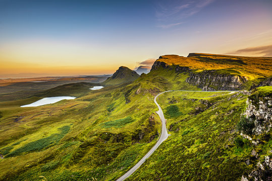 Quiraing mountains sunset