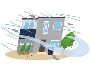 台風 暴風雨 災害 住宅