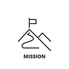 Line icon.  Mission