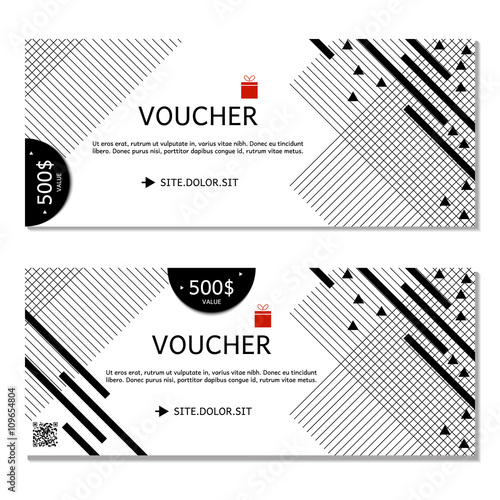 Gift Voucher Coupon And Template For Company Black White