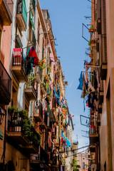 Dans les rues de la vieille ville de Barcelone