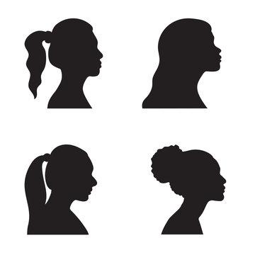 Profile  woman silhouette