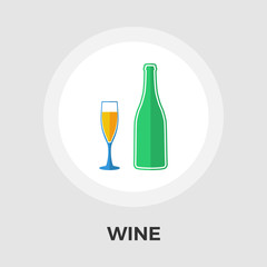 Wine vector flat icon