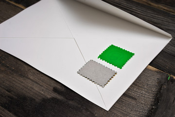 On the envelope without a stamp pattern
