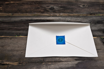 The stamp is drawn e-mail sign