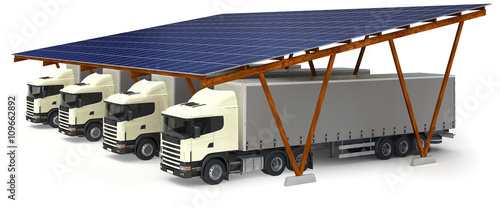 lkw solar carport stockfotos und lizenzfreie bilder auf bild 109662892. Black Bedroom Furniture Sets. Home Design Ideas