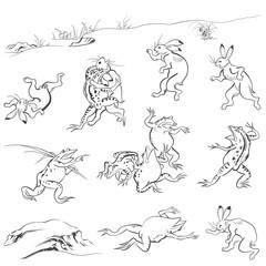 鳥獣人物戯画のイメージイラスト