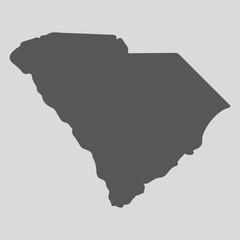Black map state South Carolina - vector illustration.