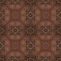 Brown seamless lace pattern print background
