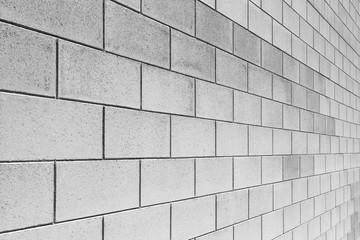 Angle of white brick wall