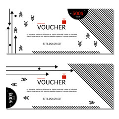 Gift voucher. Coupon and voucher template for company