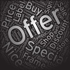 Offer ,Word cloud art background