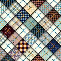 Diagonal little pattern seamless vector illustration
