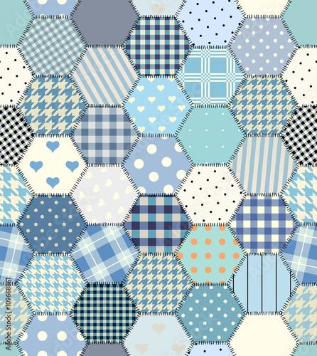 blue patchwork hexagon stockfotos und lizenzfreie vektoren auf bild 109668861. Black Bedroom Furniture Sets. Home Design Ideas