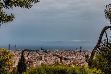 Panorama de Barcelone vu du Parc Güelle
