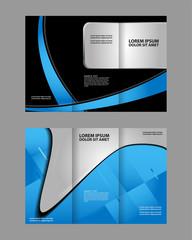 Tri fold brochure template design vector illustration