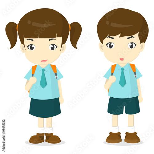 Sad School Boy With School Bag Clipart  Clipartpig