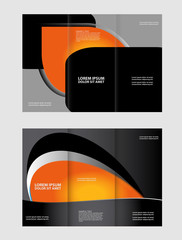 Brochure mock up design template for business, education, advertisement. Trifold booklet editable printable vector illustration color