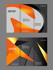 Brochure mock up design template for business, education, advertisement. Trifold booklet editable printable vector illustration