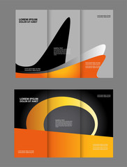 Professional business three fold flyer template, corporate brochure or cover design, can be use for publishing, print and presentation