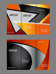 Professional business flyer template or corporate brochure design