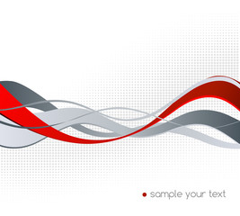 Abstract color wave design element.