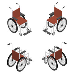 Wheelchair detailed isometric icon