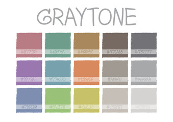 Graytone Color Tone with Code Vector Illustration