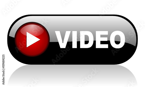 video black web banner 3d rendering icon