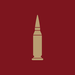 The bullet icon. Weapon symbol. Flat