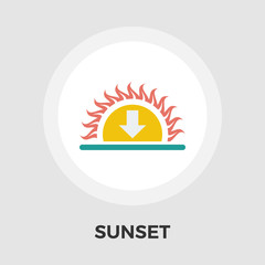 Sunset flat icon