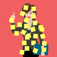 Sticky notes girl