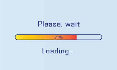 Progress loading bar. Infographics design element. Vector illustration.