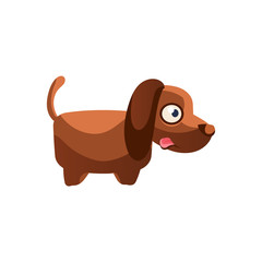 Dog Simplified Cute Illustration