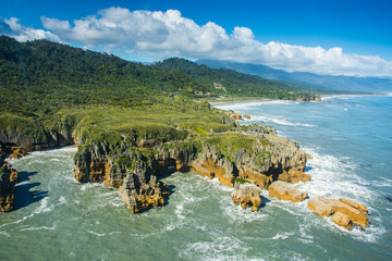 Canvas Prints New Zealand Pancake Rocks from the top in New Zealand