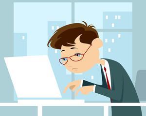 Man typing text on keyboard