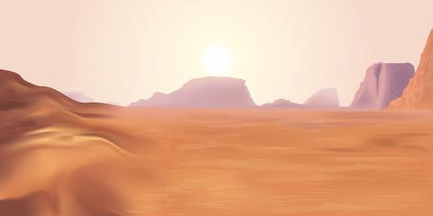 Paysage planète Mars