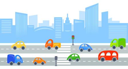 city traffic, urban view background