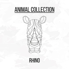 Geometric rhino head