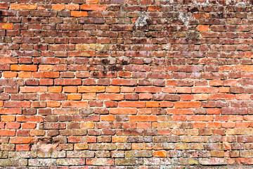 old red-orange brick wall 3