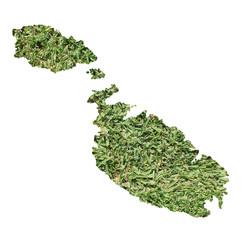 Malta environmental map