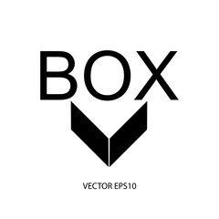 symbol vector  box logo design for company and business
