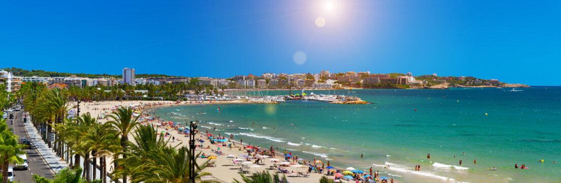 View of Platja Llarga beach in Salou Spain