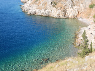 Aegean Sea in Hydra Greece