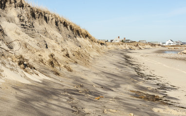 Beach erosion on Cape Cod Bay Wall mural