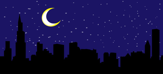 Vector city night