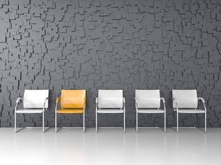 3D render of modern waiting room